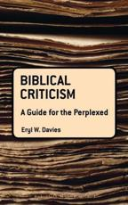 ISBN: 9780567145949 - Biblical Criticism