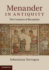 ISBN: 9781107004221 - Menander in Antiquity