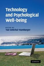 ISBN: 9781107402287 - Technology and Psychological Well-being