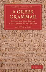ISBN: 9781108050890 - A Greek Grammar