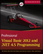 ISBN: 9781118314456 - Professional Visual Basic 2012 and .NET 4.5 Programming