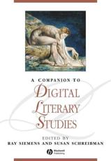 ISBN: 9781118492277 - A Companion to Digital Literary Studies