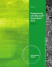 ISBN: 9781285082158 - Programming with Microsoft Visual Basic 2012