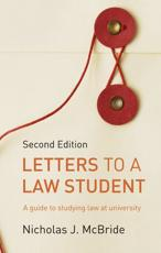 ISBN: 9781408218808 - Letters to a Law Student