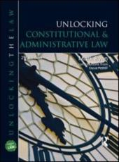 ISBN: 9781444109214 - Unlocking Constitutional and Administrative Law