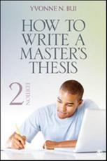 ISBN: 9781452203515 - How to Write a Master's Thesis