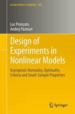 ISBN: 9781461463627 - Design of Experiments in Nonlinear Models