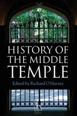 ISBN: 9781841134215 - History of the Middle Temple