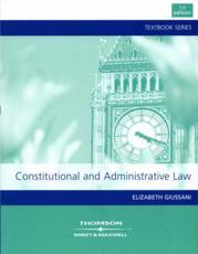 ISBN: 9781847032195 - Constitutional and Administrative Law