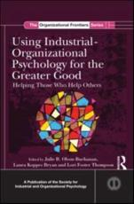 ISBN: 9781848729605 - Using Industrial-Organizational Psychology for the Greater Good
