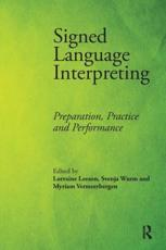 ISBN: 9781905763337 - Signed Language Interpreting