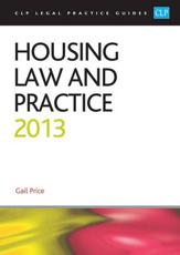 ISBN: 9781909176249 - Housing Law and Practice