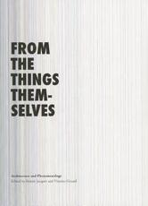 ISBN: 9784876982356 - From the Things Themselves