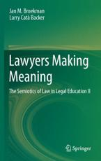 ISBN: 9789400754577 - Lawyers Making Meaning (II)