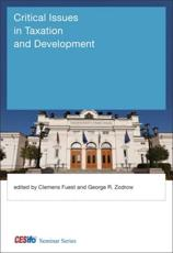 Critical Issues in Taxation and Development