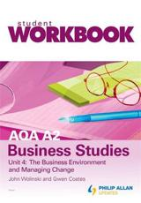 ISBN: 9780340985991 - AQA A2 Business Studies Workbook Unit 4: the Business Environment and Managing Change: Unit 4