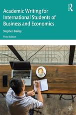 Academic Writing for International Students of Business and Economics