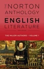 The Norton Anthology of English Literature Volume 1