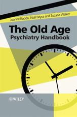 The Old Age Psychiatry Handbook