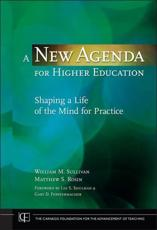 A New Agenda for Higher Education