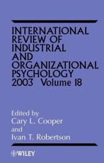 International Review of Industrial and Organizational Psychology. Vol. 18 2003