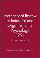 International Review of Industrial and Organizational Psychology. Vol. 6 1991