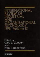 International Review of Industrial and Organizational Psychology. Vol. 13 1998
