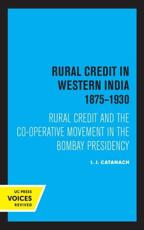 Rural Credit in Western India 1875-1930