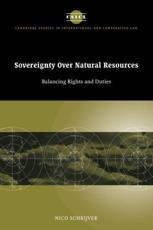 ISBN: 9780521047449 - Sovereignty Over Natural Resources