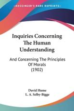 Inquiries Concerning The Human Understanding