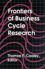 Frontiers of Business Cycle Research - Thomas F. Cooley (editor)