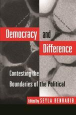Democracy and Difference - Seyla Benhabib (editor)