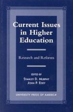 Current Issues in Higher Education