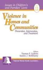 Violence in Homes and Communities