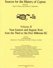 Near Eastern and Aegean Texts from the Third to the First Millennia BC
