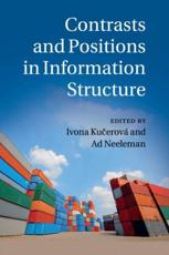 ISBN: 9781107595767 - Contrasts and Positions in Information Structure