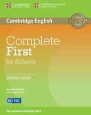 Complete First for Schools Teacher's Book