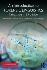 ISBN: 9781138641716 - An Introduction to Forensic Linguistics