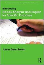 ISBN: 9781138803817 - Introducing Needs Analysis and English for Specific Purposes