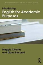 ISBN: 9781138805156 - Introducing English for Academic Purposes