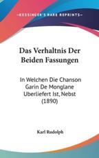 Das Verhaltnis Der Beiden Fassungen - Karl Rudolph (author)
