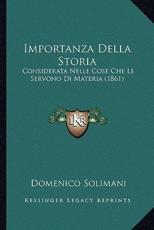 Importanza Della Storia - Domenico Solimani (author)