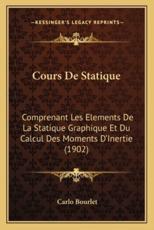 Cours De Statique - Carlo Bourlet (author)