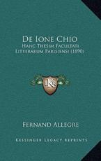 De Ione Chio - Fernand Allegre (author)