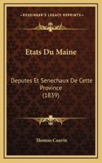 Etats Du Maine - Thomas Cauvin (author)