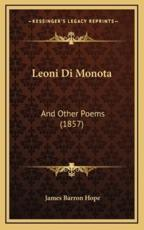 Leoni Di Monota - James Barron Hope (author)