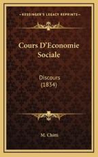 Cours D'Economie Sociale - M Chitti (author)