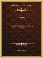 Canaan - Hugues Vincent (author)