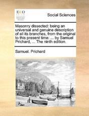 Masonry Dissected - Samuel Prichard (author)