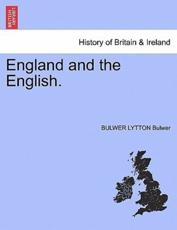 England and the English. - Bulwer, BULWER LYTTON